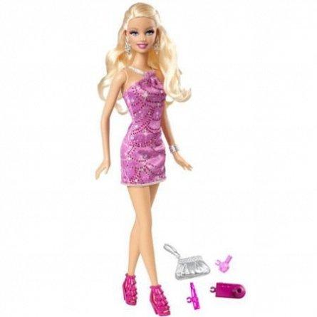 Papusa Barbie,in rochie stralucitoare
