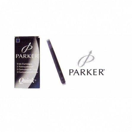 Rezerva stilou (Patroane cerneala) Parker, negru, 5 buc