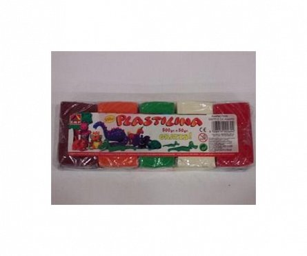 Plastilina, 10 culori/s 550 gr./pachet