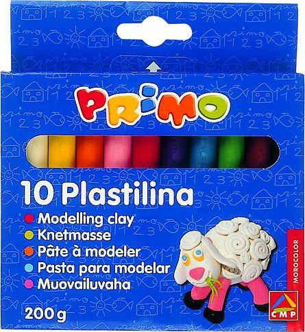 Plastilina 10 culori, 200 gr/cutie