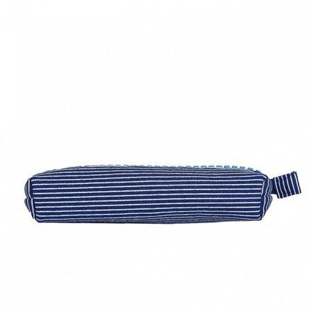 Penar tip borseta Pixie, 20.3x12x3.7 cm, albastru/dungi