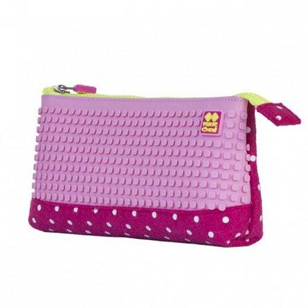 Pouch Pixie,20.3x12x3.7cm,roz/dotted