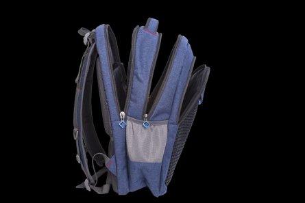 Rucsac Pixie,36x49x21cm,albastru/negru