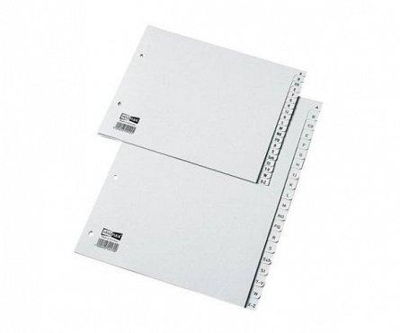 Separatoare din plastic, A4, Noki, index A-Z, gri